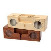 portable retro Bluetooth speaker wooden speaker mini wireless Bluetooth audio Mobile phone stand speakers Desk bookshelf speaker