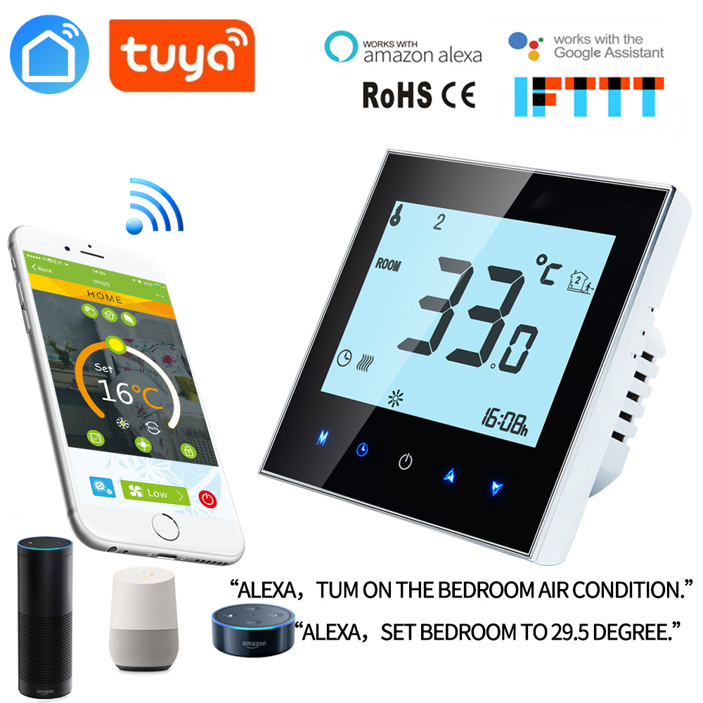 Thermostat WiFi Temperature Controller For Gas Boiler/Waterfloor Heating Water/Electric /support Google Home Alexa Voice Control