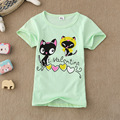 New Summer t-shirt kids for 2-7 years girls Children Lovely Cat t shirt enfant girl kids tops Short Sleeve Tee kids t shirts