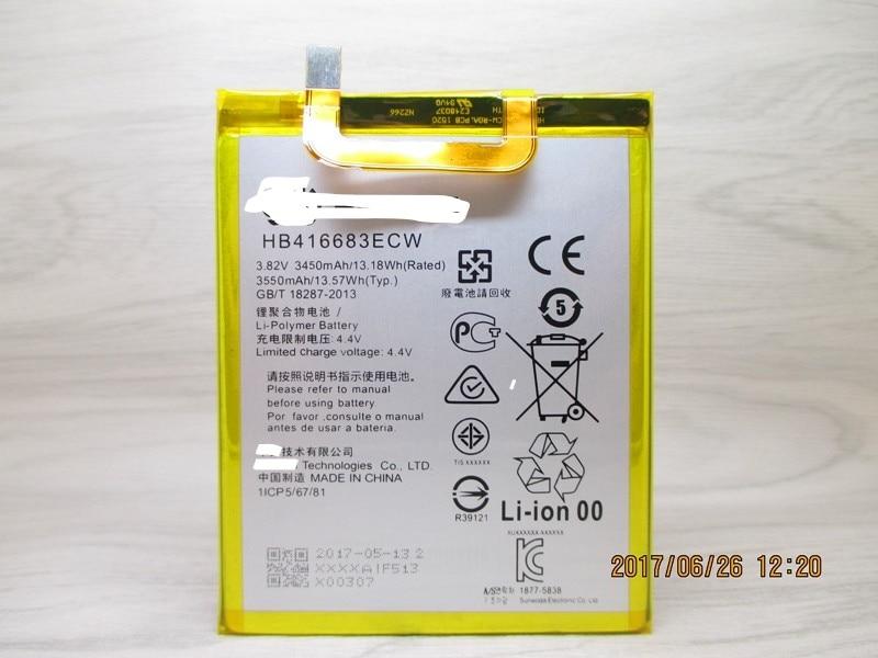 3550 mAh HB416683ECW Batterie Pour Huawei Google Nexus 6 P 6 plus H1511 H1512 viennent avec l'autocollant de la batterie