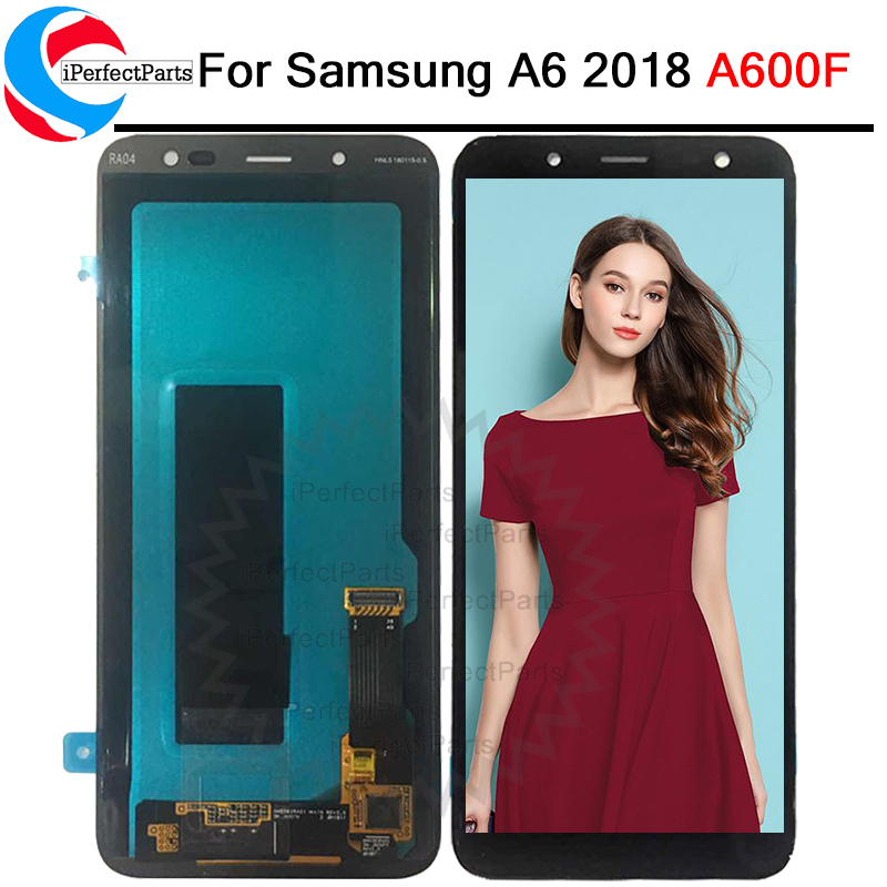 Super Amoled 5 6 For Samsung Galaxy A6 2018 A600F A600FN Lcd Screen Display Touch Glass