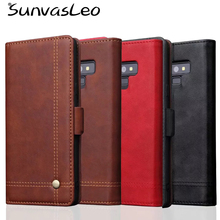 For Samsung Galaxy Note 9 Luxury Wallet Flip Leather Case Cell Phone Full Cover Shell Purse Pouch with Card Slots Stander Holder цена в Москве и Питере