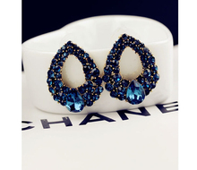 Blue Crystal Earing