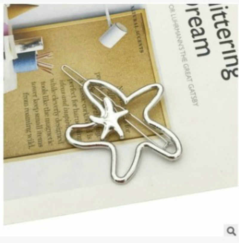 Emas Bintang Laut Logam Rambut Klip Rambut Sisir Pin Barrette Jepit Rambut Bulang Aksesoris Kecantikan Alat Styling Baru