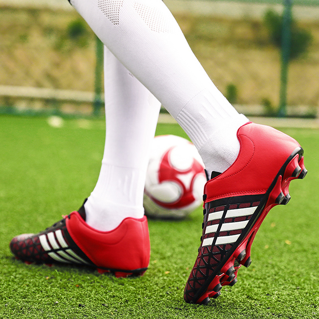 BOOMING Adult Kids Soccer Cleats Turf Football Shoes TF Hard Court Sneakers Soccer Cleats Training Football Sneaker