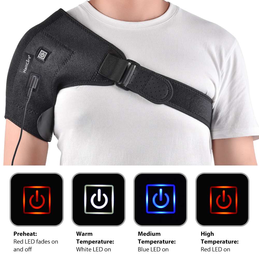 Heat Therapy Hot Adjustable Shoulder Heating Pad For Frozen Shoulder Bursitis Tendinitis Shoulder Brace Tool