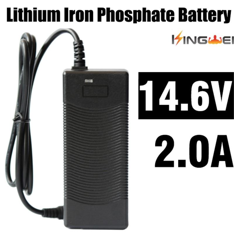 KingWei1pcs New AC 100V-240V Converter Power Adapter Charger for 18650 Lithium Battery DC 14.6V 2A Power Supply EU UK US Plug DC