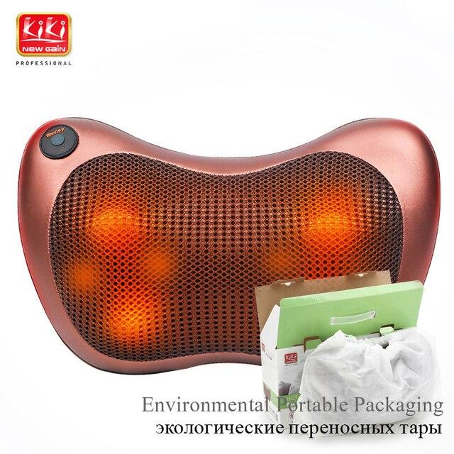 KIK NEWGAIN pescoço multifuncional prato massageador massagem travesseiro Almofada lombar cervical massager do pé massager do corpo ombro 12 V