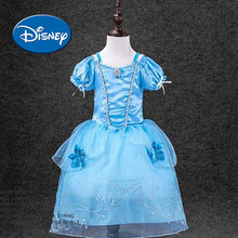 Disney Princess Children's Garment Girl Full Dress Evening Dress Show Clothing Cinderella Ekusute Princess Dress disney princess игровой набор с мини куклами petite princess cinderella and prince charming