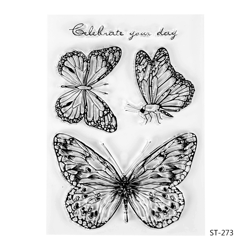 3 Butterflies Transparent Clear Silicone Stamp/seal for DIY Scrapbooking/photo Album Decorative Clear Stamp Sheets. wish list transparent clear silicone stamp seal for diy scrapbooking photo album decorative clear stamp sheets