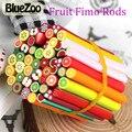 BlueZoo 50 pcs Fimo Unhas Adesivos Fruit Fimo Canes 3D Prego arte Decoração Animal Da Flor da Argila Do Polímero Fimo Rods Nail DIY projeto