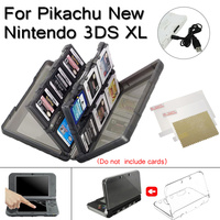 For Nintendo New 3DS XL 4 In 1 Accessories Set With Housing Clear Shell Case Screen