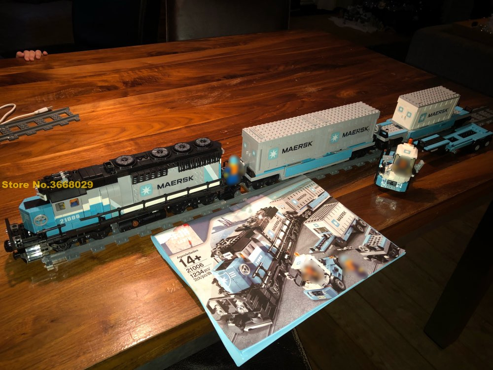 21006 Technic MAERSK TRAIN Building Blocks Creative Model Bricks Educational Diy Model Kits Toy Gift Compatible