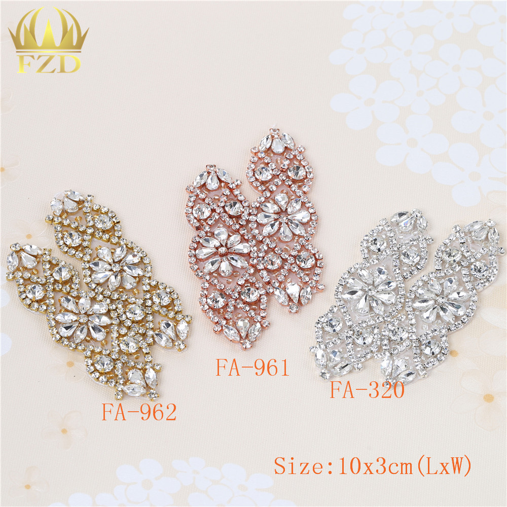 (100 pieces) Wholesale Handmade Hot Fix Sewing Beaded Bridal Sash  Rhinestone Applique for DIY Garments Wedding Dress-in Rhinestones from Home    Garden on ... 00aabecd3c91