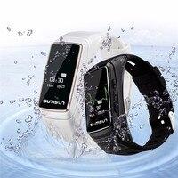 Venta caliente B7 Bluetooth talkband ritmo cardíaco Monitores fitness Tracker Smart Watch Sport Smart pulsera con reproductor de música Smart Band