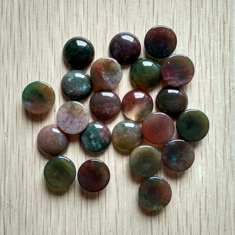2016 fashion high quality natural india onyx round shape CAB CABOCHON stone beads for jewelry making 14mm wholesale 50pcs free