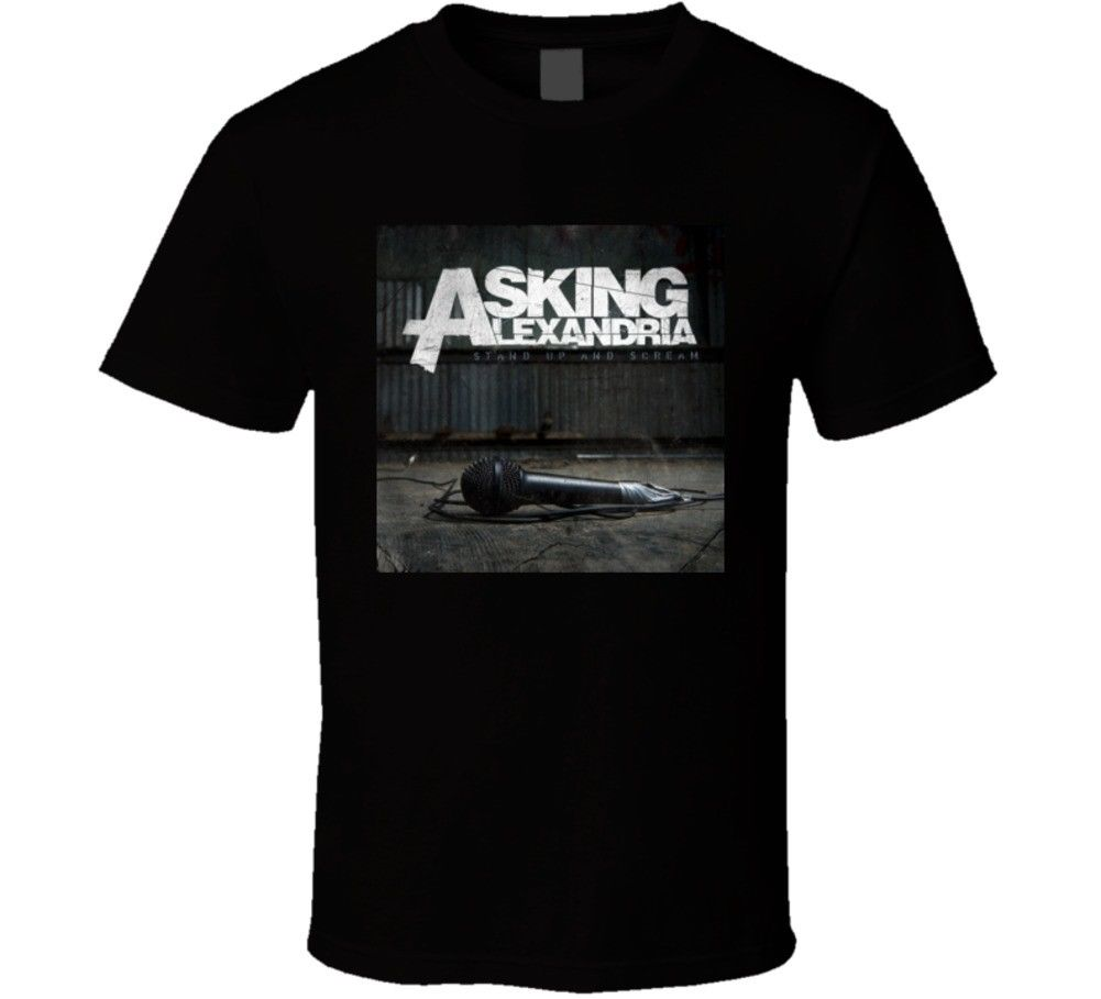 ASKING ALEXANDRIA BRITISH ROCK MUSIC BAND STAND UP AND SCREAM T Shirt Men Cotton T-Shirt Printed T Shirt Top Tee
