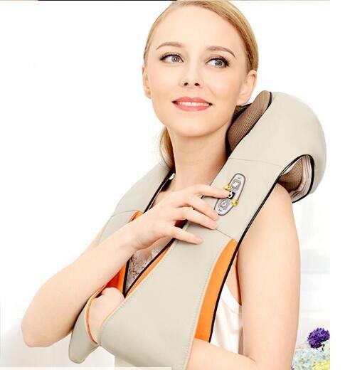 Nouveau électrique corps de massage infrarouge chaleur pétrissage massage du dos massage lombaire colonne vertébrale massage du cou à l'épaule châle soins de santé
