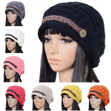 Women New Design Caps Twist Pattern Women Winter Hat Knitted Sweater Fashion beanie Hats For Women MN186