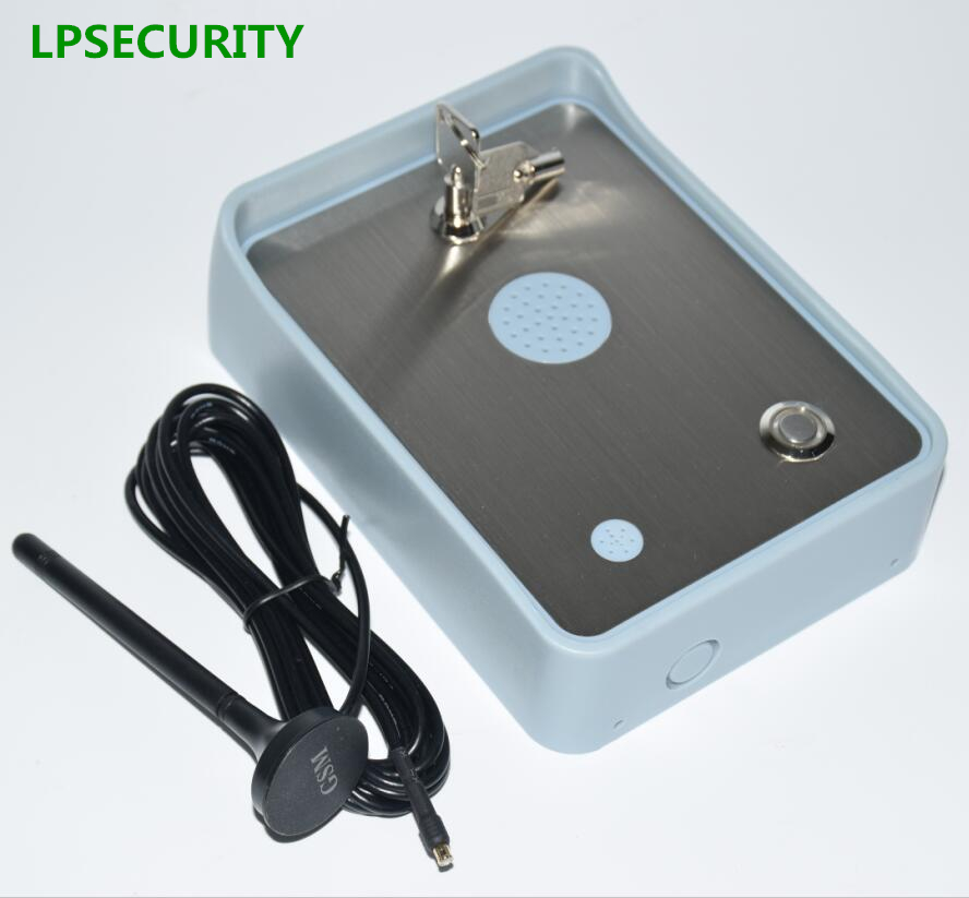 LPSECURITY 2G 4G GSM Door & Gate Intercom/Wireless Intercom System for Door & automatic electric Gate Access 12VDC