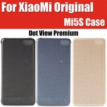 Snapdragon 821 para xiaomi mi5s case inteligente de la marca original punto de vista premium de cuero cubiertas del tirón para xiaomi mi 5S m5s