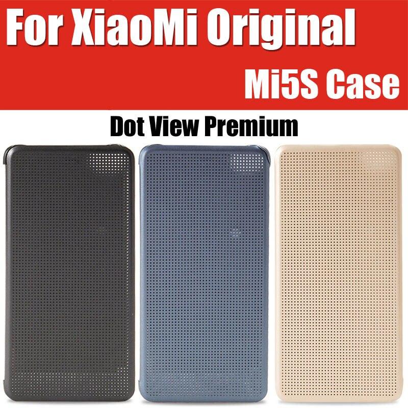 imágenes para Snapdragon 821 para xiaomi mi5s case inteligente de la marca original punto de vista premium de cuero cubiertas del tirón para xiaomi mi 5S m5s