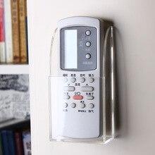 Montado en la pared acondicionador de aire/TV control remoto caja de almacenamiento organizador de control remoto titular cassette pared colgando estante de almacenamiento