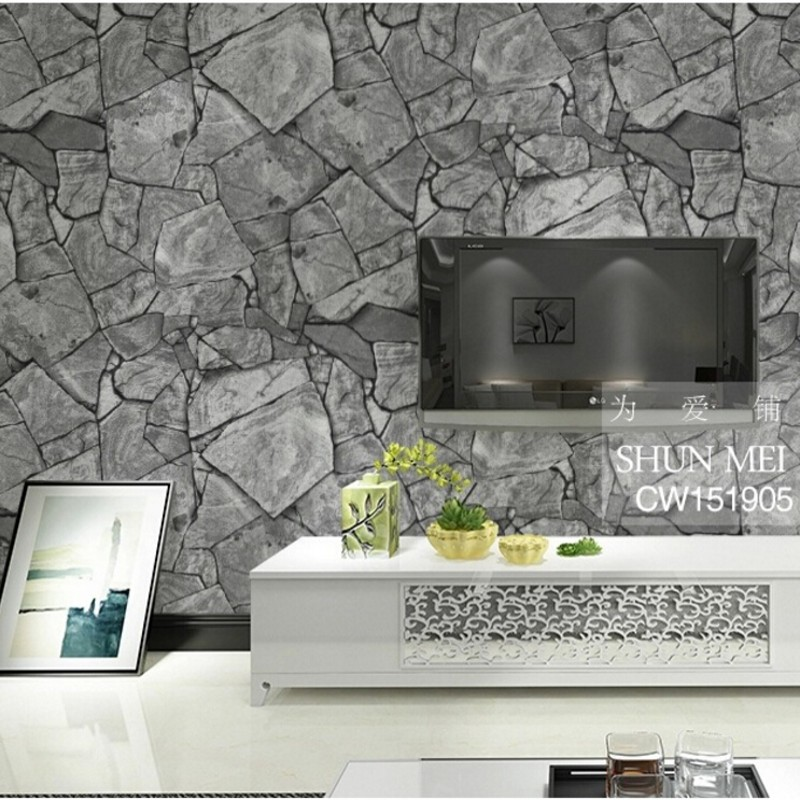Beibehang 3D Simulation Of Rock Stone Texture Wallpaper The Living Room TV Backdrop Waterproof Wall Paper Home Decor Tapety In Wallpapers From