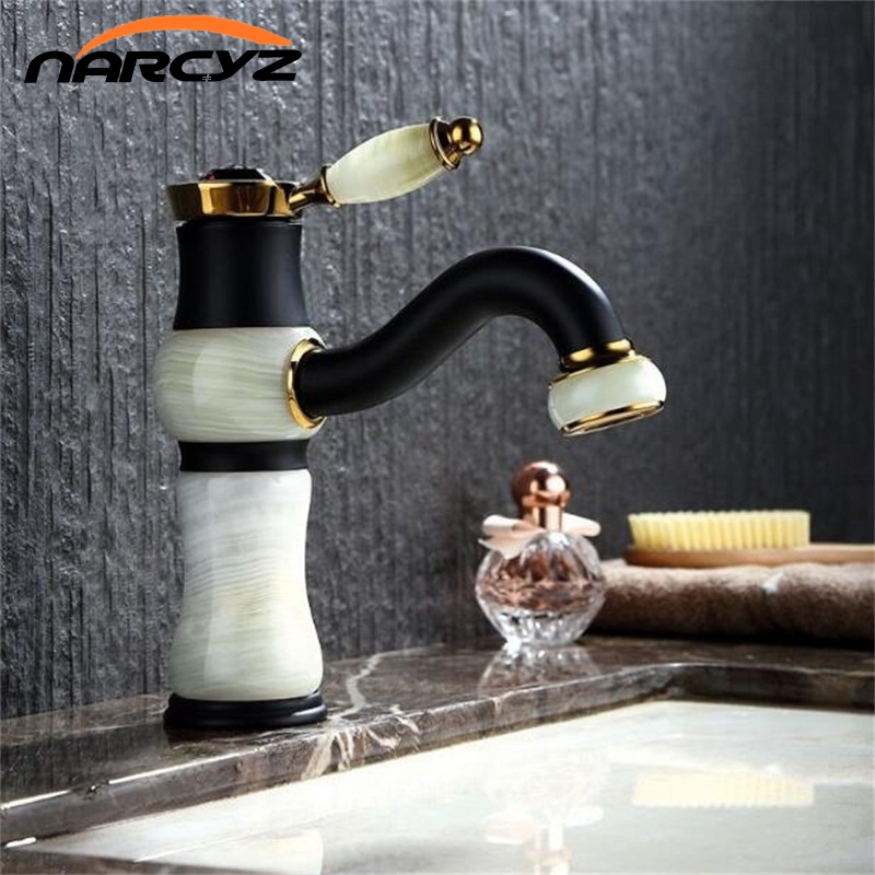 Free Shipping Single Handle Free Ship Polished Black Bathroom Deck Mounted Faucet Basin Brass Sink Mixer Tap XT619 polished chrome deck mounted bathroom kitchen faucet tap single handle with brass soap dispenser