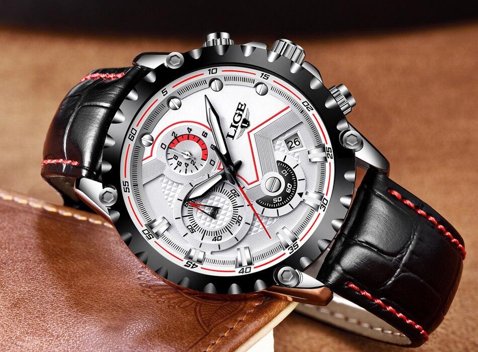 2019 lige moda dos homens relógios marca