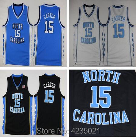 Cheap Retro Vince Carter Basketball Jersey 15# North Carolina Throwback Stitched Embroidery High Quality Shirts For Men