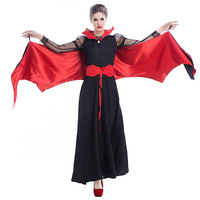 New Halloween Vampire Queen Cosplay Costume Woman Clothing Role Play Exotic Disfraces Hot Sale Game Play
