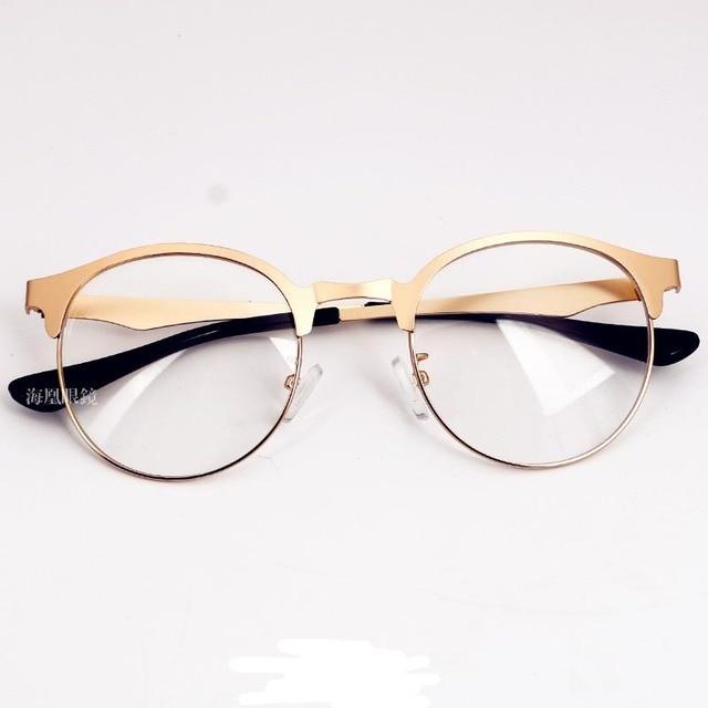 comprar 2016 nuevo marco de metal de oro con lentes transparentes de las mujeres. Black Bedroom Furniture Sets. Home Design Ideas