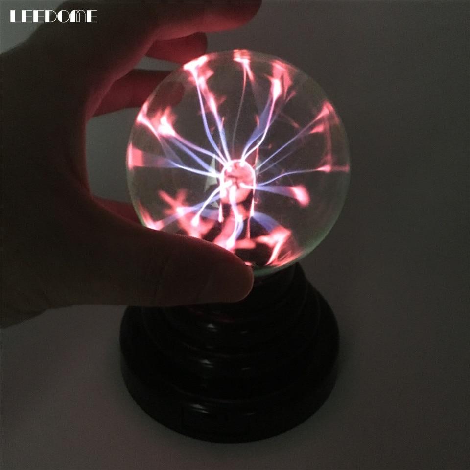 Dropship Creative Plasma Light USB Electrostatic Sphere Light Magic Glass Ball  Lightning Christmas Party Touch Sensitive Light