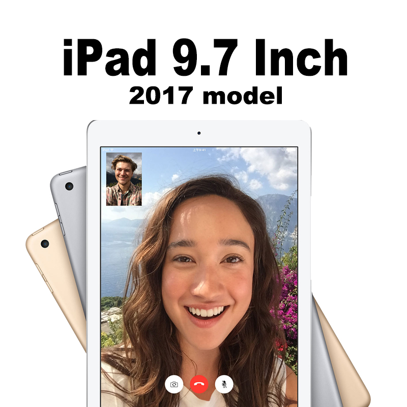 Apple iPad 9.7 дюймов 2017 Модель Таблица Wi-Fi Сотовый 32 Г 128 Г Retina display 64bit A9 чип 10 час тесто Планшеты