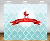custom Blue Red Gender Neutral Baby Shower Baby photography studio background High quality Computer print party backdrop