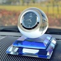 Creative Clock Car Perfume Seat Car Crystal Ornaments Beautiful Watch Perfume Seat Crystal Home Aecoration Accessories Gifts