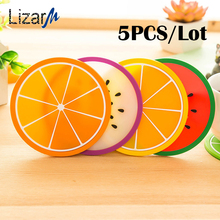 5PCS/lot placemat stand for hot coasters kitchen table mats Pad Slip Holder Silicone cup mat Fruit drink Coffee Mike coaster