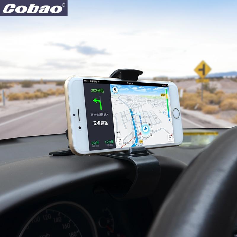 Cobao Universal auto telefon halterung dashboard clip handy halter für iPhone Samsung Xiaomi Huawei zubehör