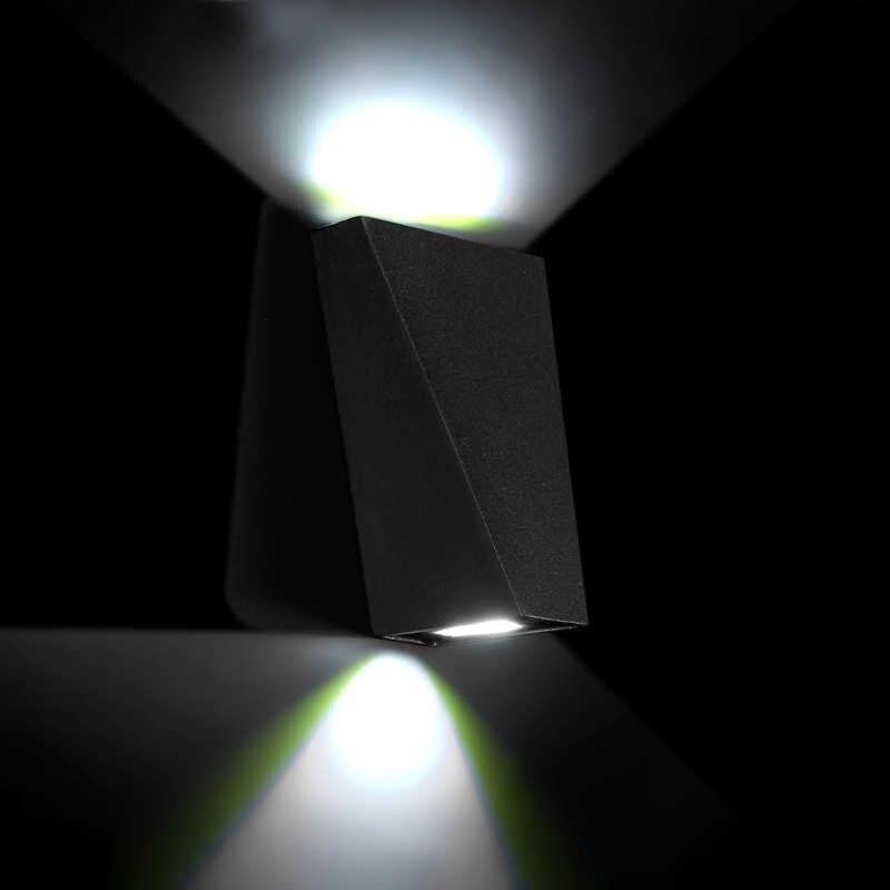 Водонепроницаемый IP65 12 Вт Mordern Светодиодный настенный светильник с двойной головкой Геометрическая настенная лампа бра для уличное парк уличное освещение сада