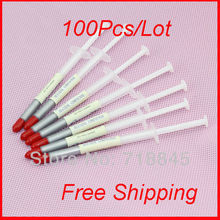 100pcs Pack Lot Silver Syringe Led IC VGA CPU XBOX360 Heaksink Compounds Thermal Paste