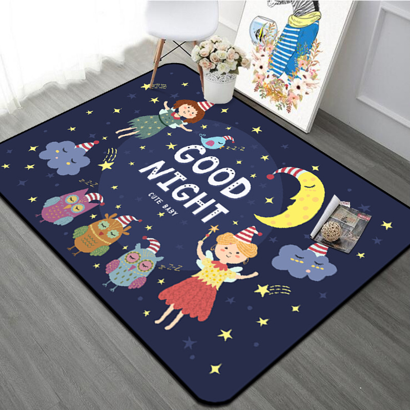 Bébé jouant tapis rampant enfants tapis de sol pour enfants chambre enfants tapis de jeu tapis enfants avec bonne nuit tapis pour bébé Pad