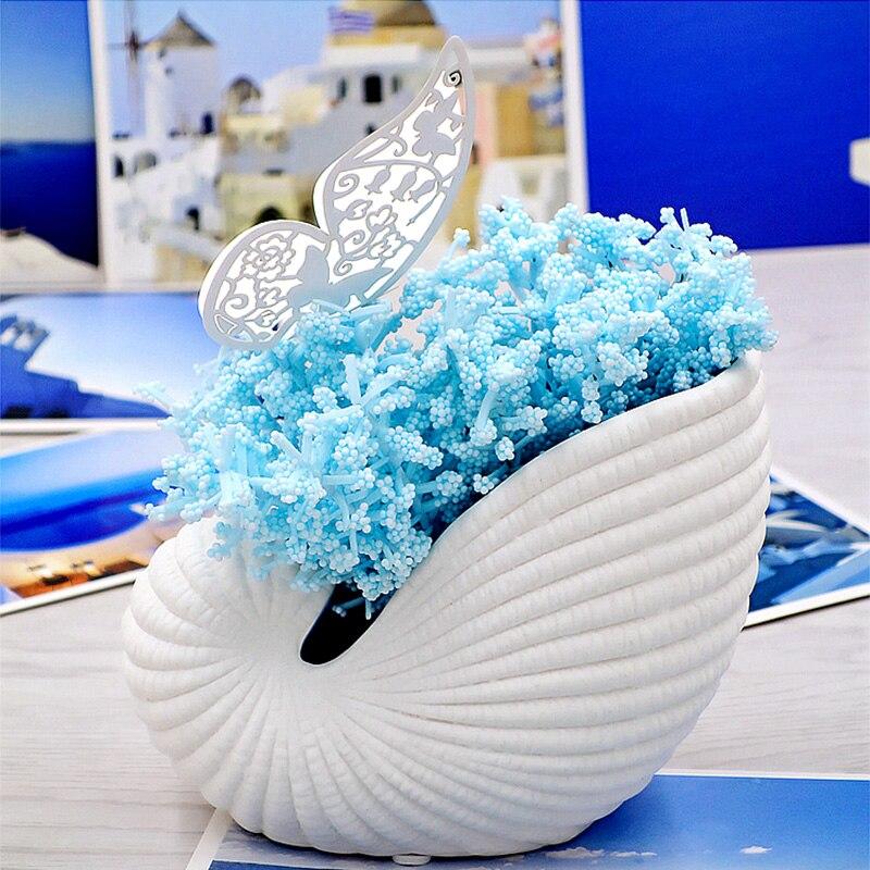 Modern Pottery Figurine Home Decoration Accessories Handwork Conch