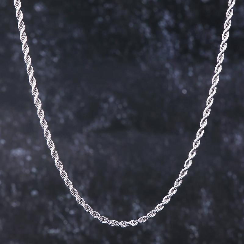 9K YELLOW GOLD FILLED ROPE TWIST CHAIN WOMEN MEN SOLID CHARM 16-30INCH NECKLACE