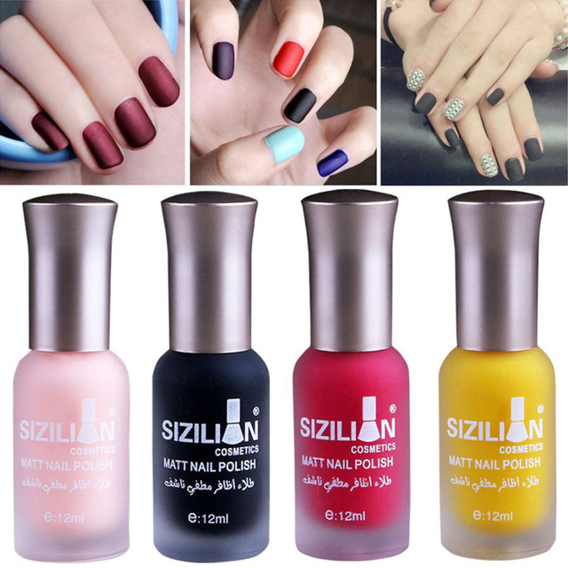 New Makeup 12ml Matte Dull Nail Polish Fast Dry Long Lasting Art