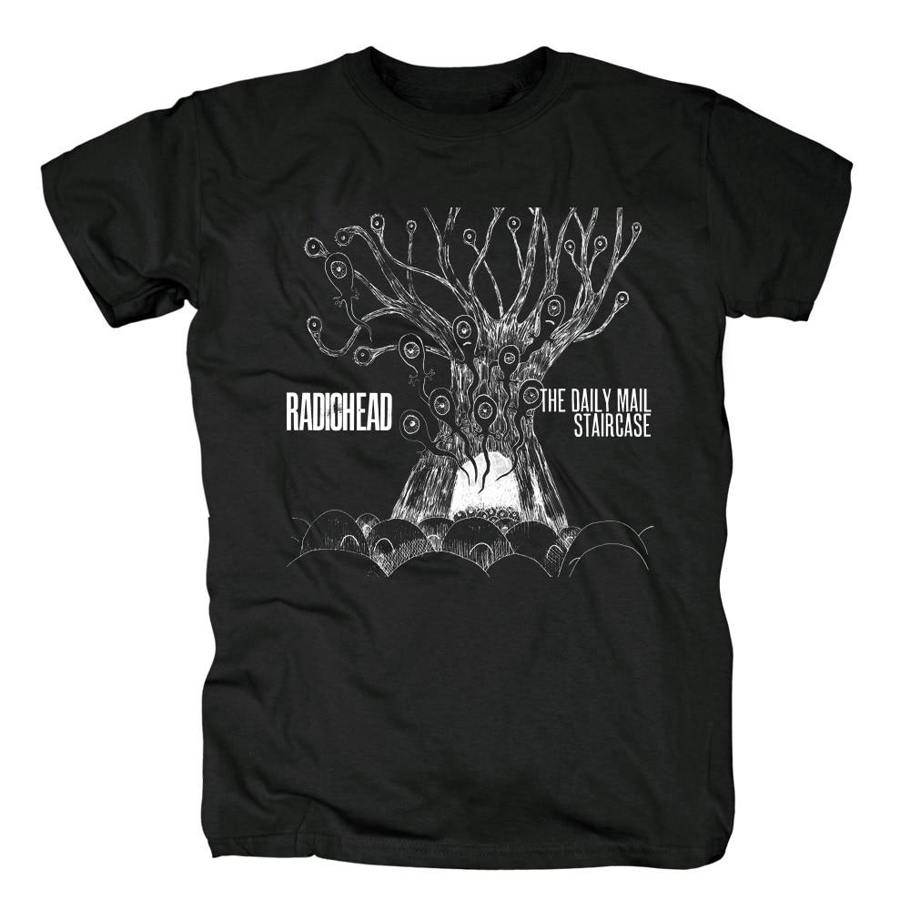 c68c8074d835 17 designs Summer Style Radiohead Punk Rock Black T shirt 3D mma fitness 100 %Cotton