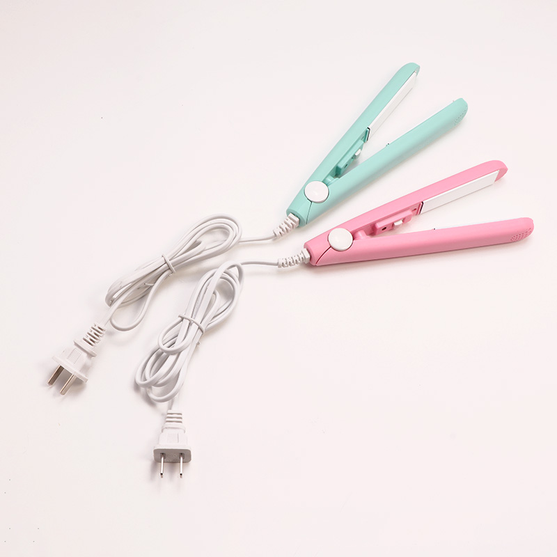 Mini  Ceramic Electronic Hair Straightener Iron Chapinha Straightening Corrugated Irons Hair Crimper Styling Tools 220V