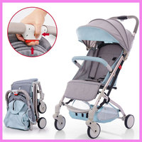 Baby Umbrella Stroller Pushchair Portable Lightweight Folding Baby Carriage Kids Pram Storage Basket Rotating Wheels Footrest