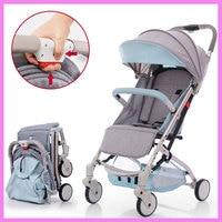 Baby Umbrella Stroller Pushchair Portable Lightweight Folding Baby Carriage Kids Pram Storage Basket Rotating Wheels Footrest