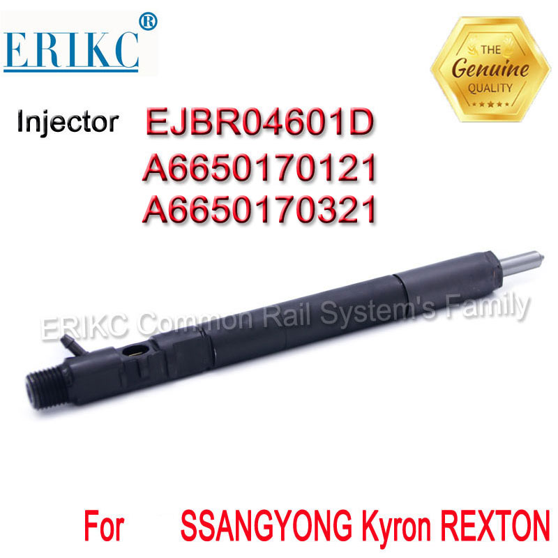 A6650170121 ERIKC EJBR04601D Diesel Common Rail Fuel injector EJBR0 4601D OEM for A6650170321 SSANGYONG Kyron REXTON 2.7 Euro 3-in Fuel Injector from Automobiles & Motorcycles